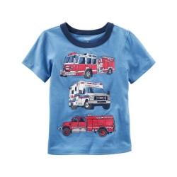 243G800 Playera azul bomberos