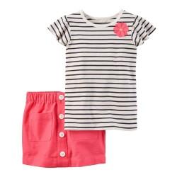 239G353 Blusa rallas falda...