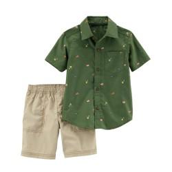 229G760 Camisa verde...