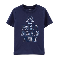243H964 Playera azul Party...