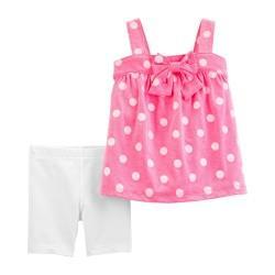 239G949 Blusa rosa lunares...