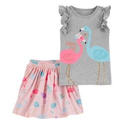 2H747610 Blusa flamingos...