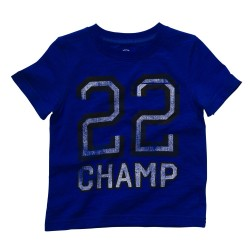 225A026 Playera azul numero 22
