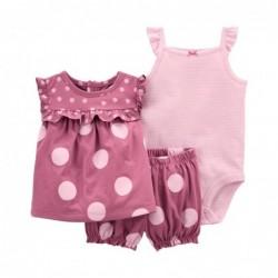 1K443710 Blusa rosa lunares...